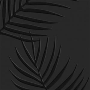 faianta neagra model cu frunze keros