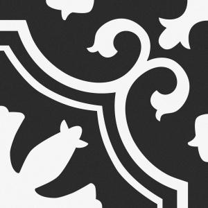 gresie decor alb negru 25x25