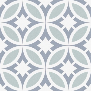 gresie decorativa patchwork albastru