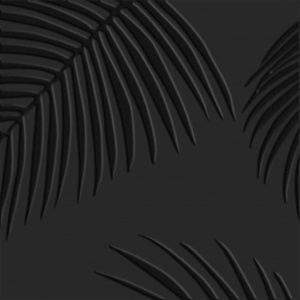 gresie neagra model cu frunze 25x25