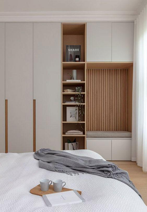 mobila dormitor cu riflaj