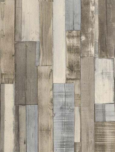 COD 446753  - Tapet stil industrial aspect lemn