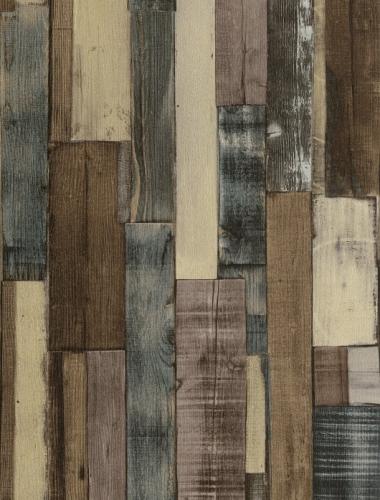 COD 446760  - Tapet stil industrial aspect lemn