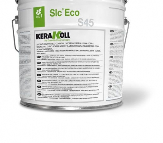 Adeziv neoprenic pentru lipire mocheta linoleum gazon sintetic interior exterior Slc ® Eco S45  Kerakoll