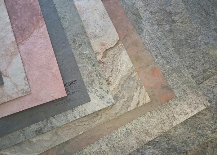 Ardezie flexibila pentru placare pereti interiori si exteriori SKINROC productie Elvetia
