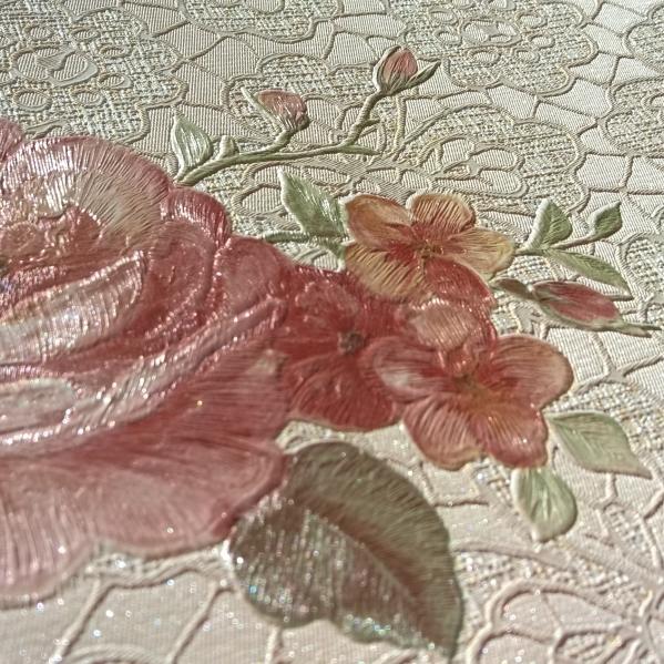 BLISS ART  Tapet dantela model floral pentru dormitor si living gama UNICA 18