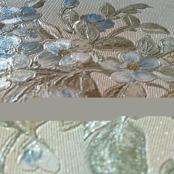 BLISS ART  Tapet dantela model floral pentru dormitor si living gama UNICA 23