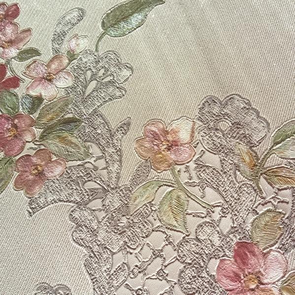 BLISS ART  Tapet dantela model floral pentru dormitor si living gama UNICA 33