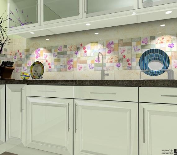 BLISS-ART-proiect-de-amenajare-bucatarie-cu-faianta-si-placi-decor-cu-flori-gama-CENTRAL-productie-KEROS