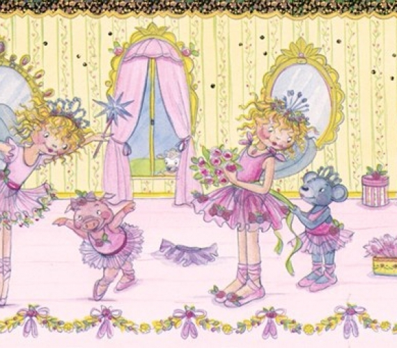 Latime bordura: 17 cm - Bordura tapet pentru copii model cu printese  gama VILLA COPENRATH