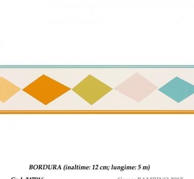 Bordura-tapet-cu-romburi-colorate-gama-BAMBINO-cod-247916