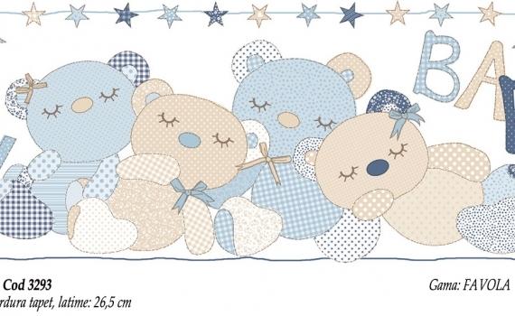 Bordura-tapet-cu-ursuleti-bleu-pentru-copii-gama-FAVOLA-cod-3293