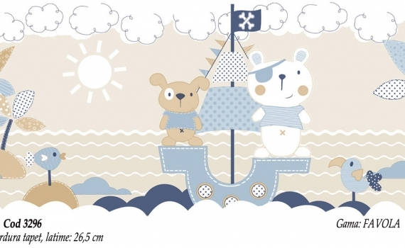 Bordura-tapet-cu-ursuleti-pentru-copii-gama-FAVOLA-cod-3296