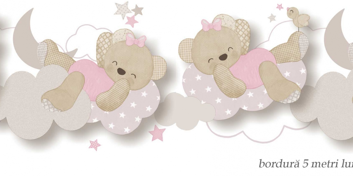 Bordura-tapet-cu-ursuleti-roz-Babylandia-5492