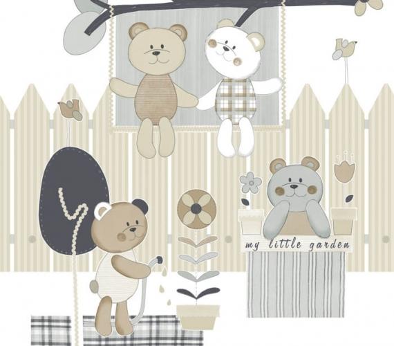 COD CB1393 - Bordura tapet lavabil cu ursuleti pentru copii, gama CIAO BIMBI.