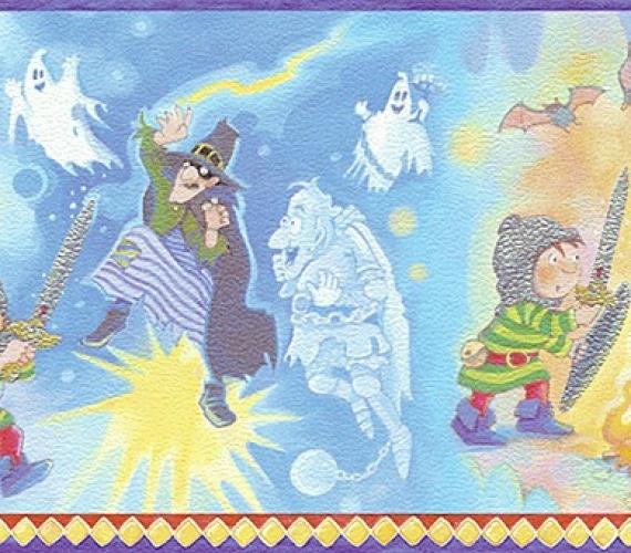Latime bordura: 17 cm - Bordura tapet pentru copii  gama VILLA COPENRATH