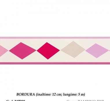Bordura-tapet-roz-cu-romburi-pentru-copii-gama-BAMBINO-2017-cod-247909