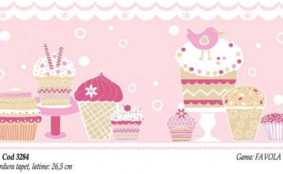 Bordura-tapet-roz-pentru-copii-gama-FAVOLA-cod-3284