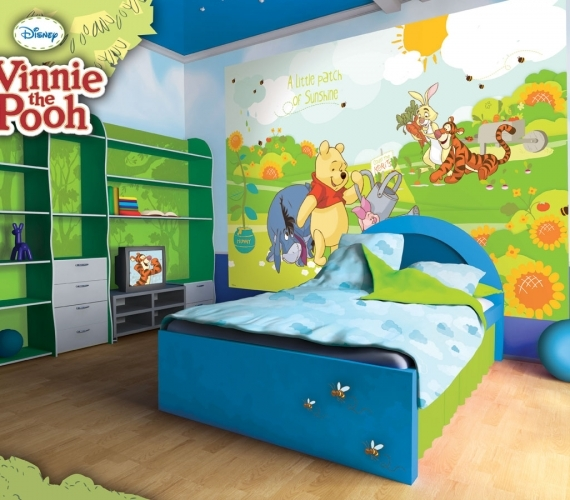 COD 210VE - Fototapet pentru copii WINNIE THE POOH AND FRIENDS ambient