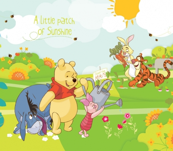 COD 210VE - Fototapet pentru copii WINNIE THE POOH AND FRIENDS