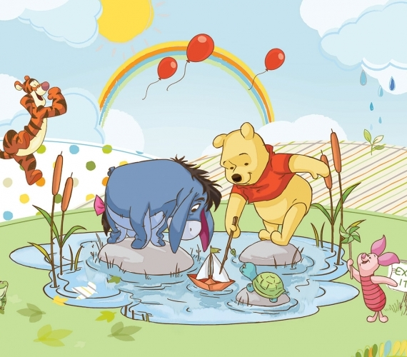 COD 304 - Fototapet pentru copii WINNIE THE POOH AND FRIENDS