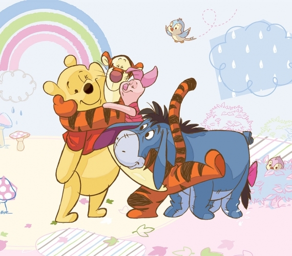 COD 315 - Fototapet pentru copii WINNIE THE POOH AND FRIENDS