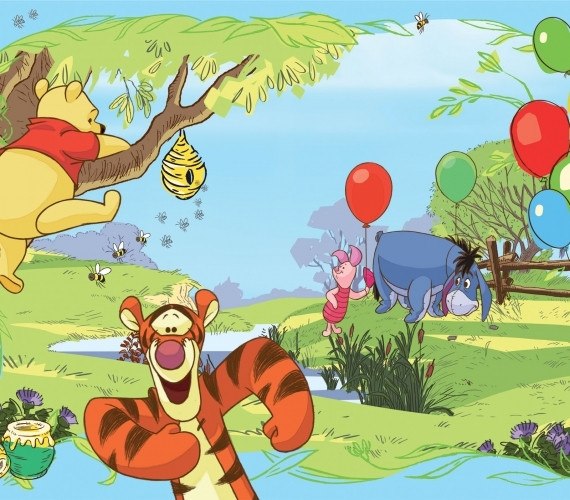 COD 4-016 - Fototapet pentru copii WINNIE THE POOH TIGGER AND EEYORE