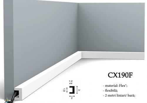 Plinta flexibila canal cablu CX190F Orac Decor