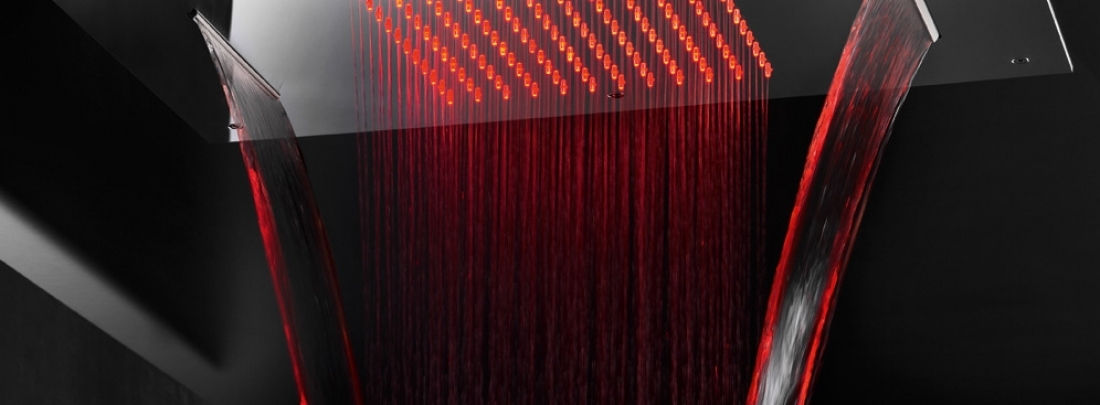 Dusuri cu LED si filtru anticalcar gama CONSTELLATION