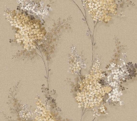 Cod 5507  - tapet lavabil cu flori de liliac gama CHIC