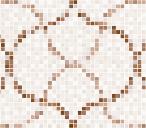 Decor faianta cu aspect de mozaic PRISMA BEIGE 20 x 60 cm MOSAICO