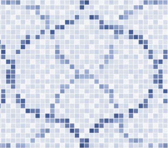 Decor faianta cu aspect de mozaic PRISMA CELESTE 20 x 60 cm MOSAICO