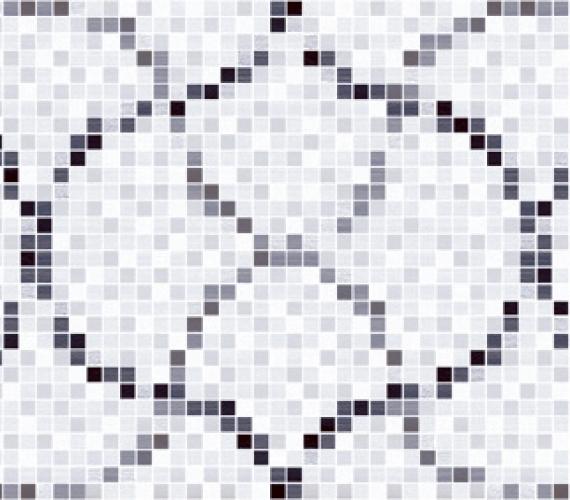 Decor faianta cu aspect de mozaic PRISMA GRIS 20 x 60 cm MOSAICO