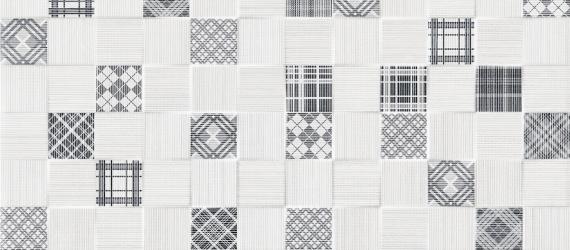 Decor-faianta-patchwork-gri-DECORADO-TESSILE-CUBIK-GRIS-Keros