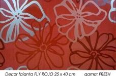 Decor-faianta-rosie-FRESH-FLY-ROJO-25x40-cm