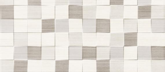 Decor-faianta-tip-mozaic-TESSILE-CUBIK-BEIGE-25x50cm