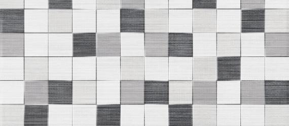 Decor-faianta-tip-mozaic-TESSILE-CUBIK-GRIS-25x50cm