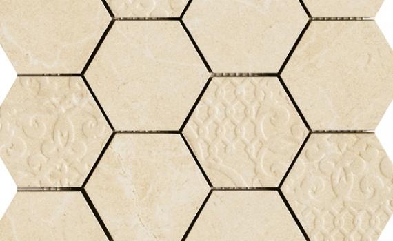 decor-gresie-mozaic-hexagon-muse-marfil