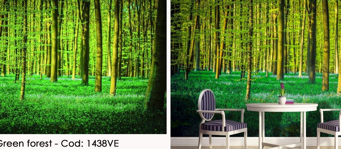Fototapet padure verde cod 1438