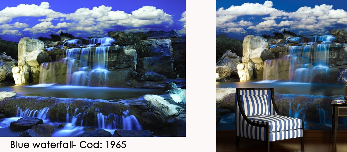 Fototapet cascada apa albastra