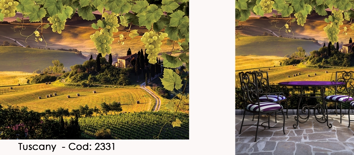 Fototapet peisaj romantic Toscana