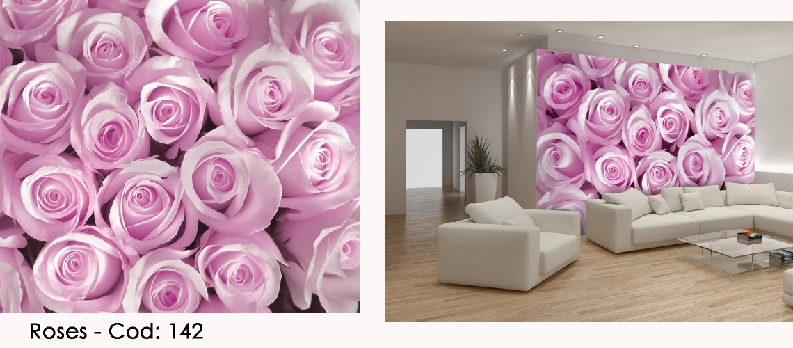 Fototapet trandafiri roz cod 142
