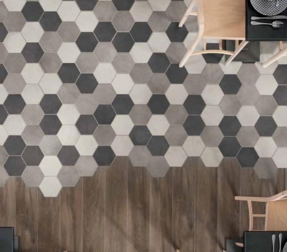 Gresie-hexagon-rectificata-portelanata-Icon-Unicom-Starker