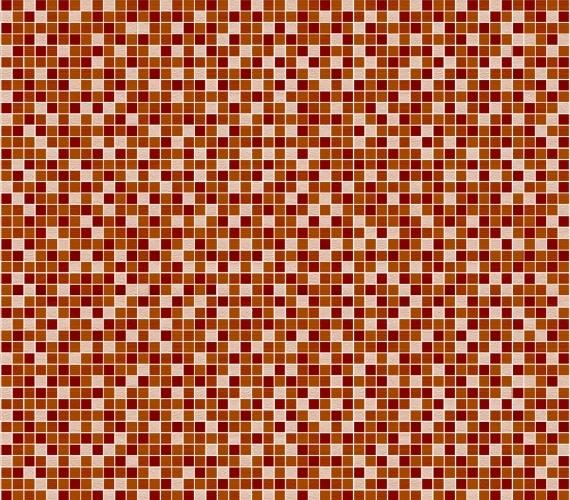 Gresie maro cu aspect de mozaic MOSAICO MARRON 33x33 cm