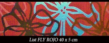 list-rosu-fly-rojo-40x5cm-keros-bliss-art