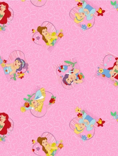 PRINCESS TALES - Mocheta roz cu printese pentru camera copii gama DISNEY