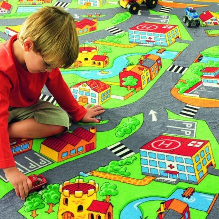 LITTLE VILLAGE - Mocheta cu strazi pentru copii