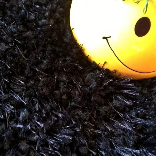 Mocheta pufoasa neagra cu fir lung tip shaggy gama PORTO cod 99
