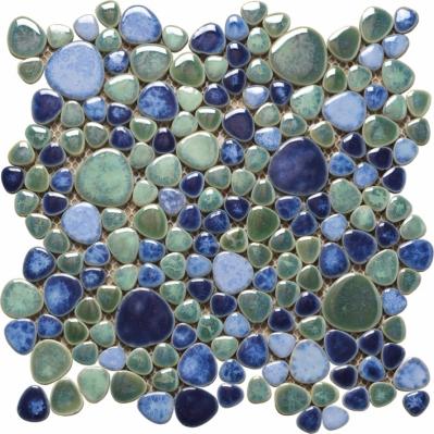 Mozaic albastru din marmura Silex Azzurro 30 x 30 cm placa  - BLISS ART DESIGN