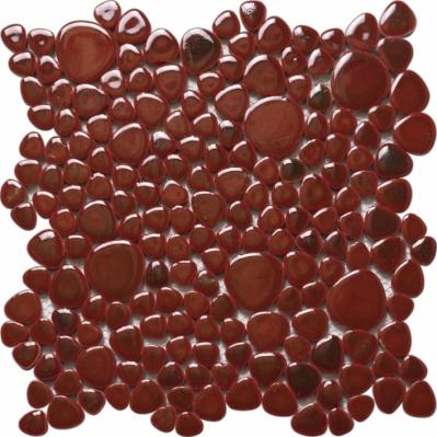 Mozaic din marmura rosie Silex Rosso 30 x 30 cm - BLISS ART DESIGN